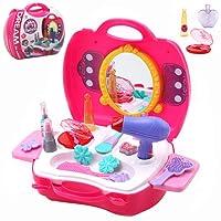 Buyger 21 Pièces Plastique Pretend Beauté Maquillage Jouets Jeux d'imitation Princesses pour enfant