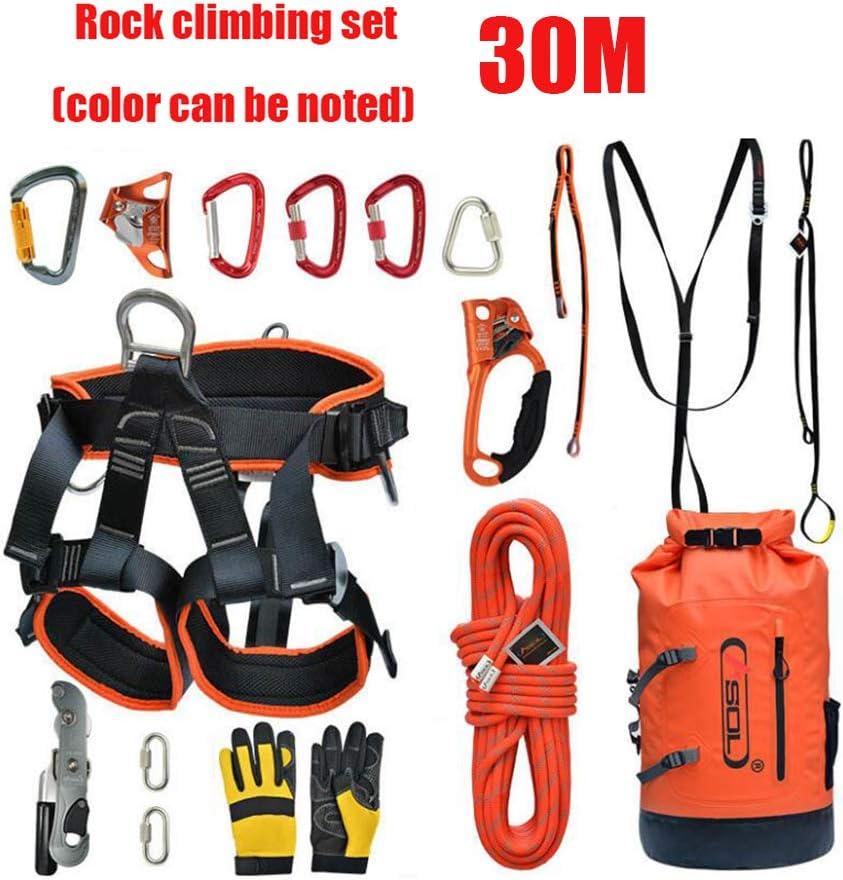 30M Juego de cuerdas para escalar, Juego de cuerdas de seguridad ...