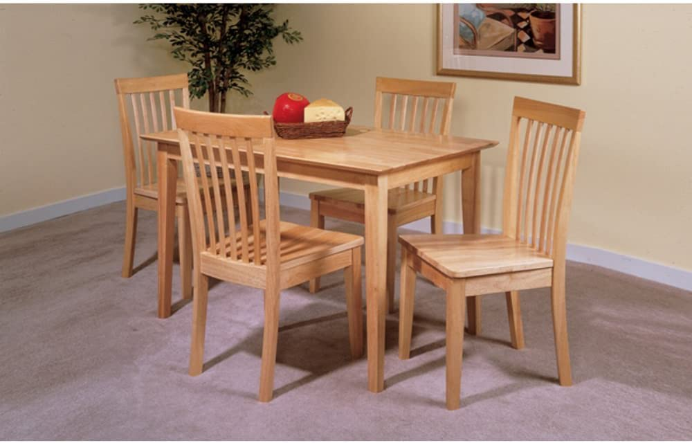 Mission Back Side Chair Set of 2 Finish Natural