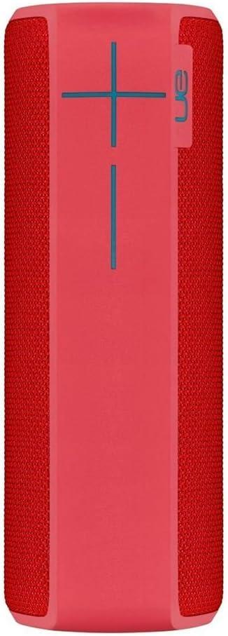 Ultimate Ears Boom 2 - Altavoz portátil individual (Bluetooth, 360 grados, impermeable, 15 horas de batería, resistente a golpes), Rojo