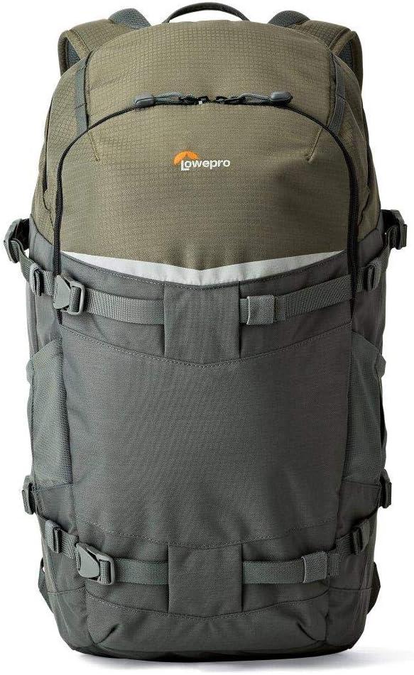 Lowepro LP37016-PWW Flipside Trek BP 450 AW Backpack for Camera, Grey/Dark Green