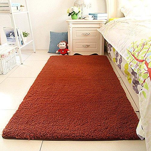 Super Soft Sherpa Bedside Rug Runners Fluffy Bedroom Rug 31 by 63 inch-MAXYOYO Solid Shaggy Runner Rug for Bedroom Non-Slip Bedroom Carpet Floor Mat
