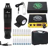 Dragonhawk Cartridge Tattoo Machine Kit Pen Rotary Tattoo Machine Cartridge Needles Power Supply for Tattoo Artists 1013…