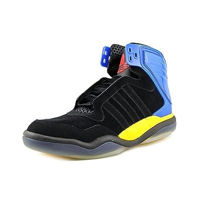 Adidas Tech Street Mid #Q32932 (Blk/Blu/Ylw) (8.5)
