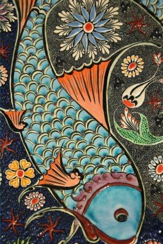 Blank Journal - Ceramic Tile Fish -