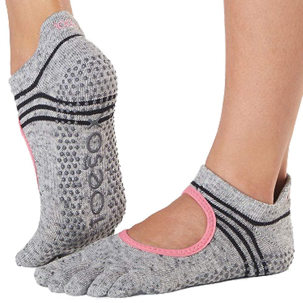 Toe Sox Toesox Grip Pilates Barre Socks-Non-Slip Bellarina Full Toe Yoga /& Ballet Chaussettes Femme