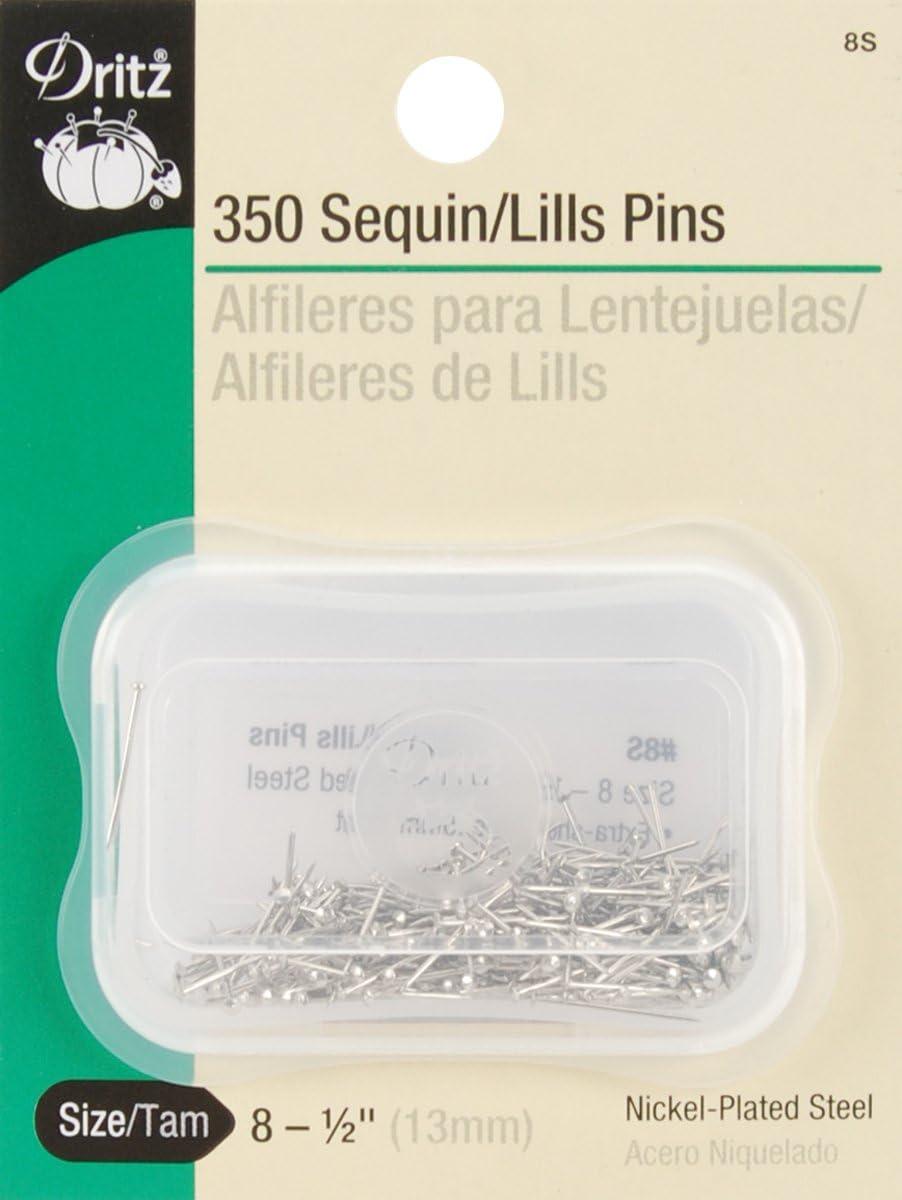 2 Pack 1 Pack Dritz Dritz 350-Piece Sequin//Lills Pins 1//2-Inch