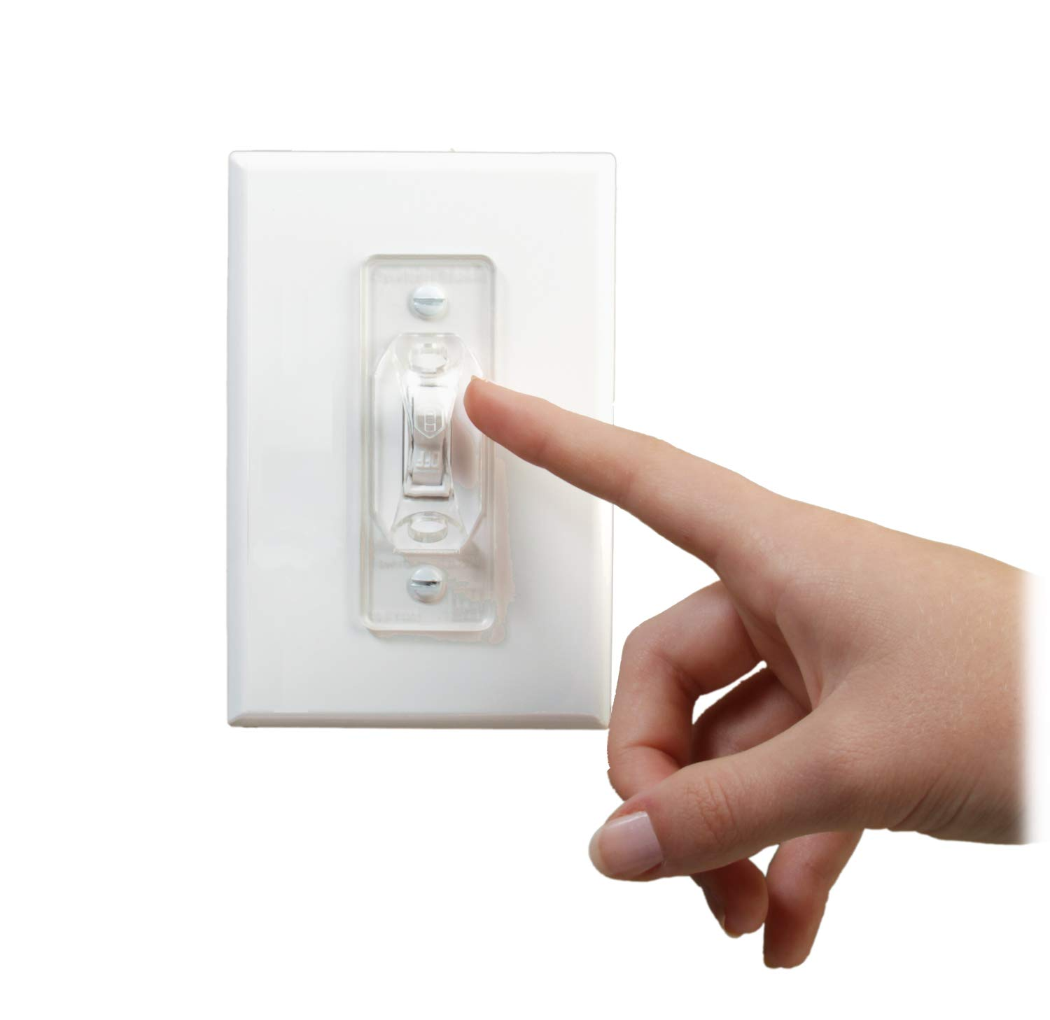 Dual Option Wall Switch Guards (3 Pack) Clear Toggle Style by Switch Shield ON (Image #7)