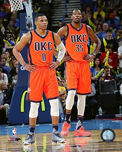 online retailer a87a1 696b7 Image Unavailable. Image not available for. Color  Kevin Durant   Russell  Westbrook Oklahoma City Thunder NBA ...