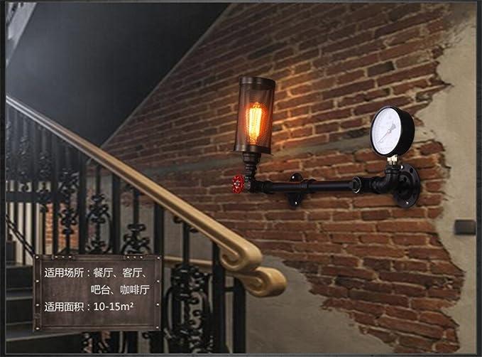 Mmynl e27 vintage antica applique da parete moderne lampada da