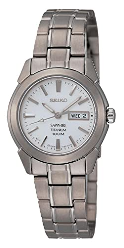 Seiko Reloj Analógico para Mujer de Cuarzo con Correa en Titanio SXA111P1: Amazon.es: Relojes