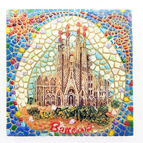 lvedu Barcelona España Creative resina imán para nevera Souvenir ...