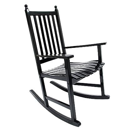 Incredible Amazon Com Achla Designs Eucalyptus Rocker Black Patio Cjindustries Chair Design For Home Cjindustriesco