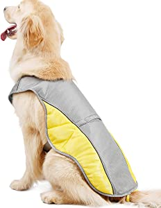 Naivedream Pet Large Cooling Vest Breathable Harness Reflective Cooling Coat Summer Heatstroke Prevention Small Medium Large Dog for Adventure Training Outdoor Walking Hunting Traveling