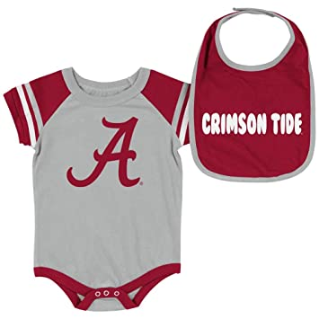 Amazon.com: Alabama Crimson Tide Bama Body de bebé y babero ...