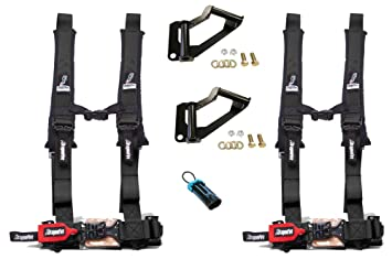Dragonfire Racing Polaris RZR xp 1000 Kit - arnés ancla/2 negro h-style 2 pulgadas arnés de 4 puntos/anular Clip: Amazon.es: Coche y moto