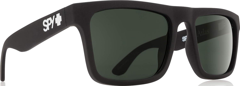 Spy Gafas espía Atlas, Suave Negro Mate - Feliz Verde Gris ...