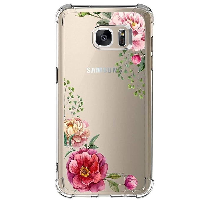 Amazon.com: Funda para Samsung Galaxy S7 con flores, IESSVI ...