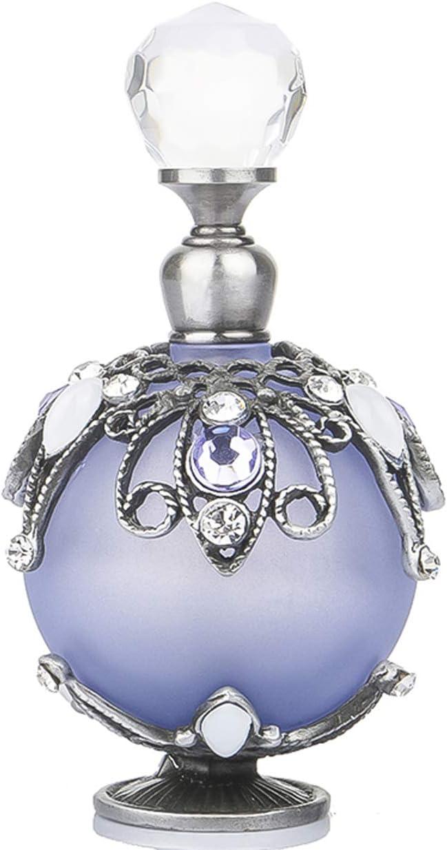 YU FENG Botellas decorativas de cristal vintage con flores de ratán huecas para restaurar antiguas formas