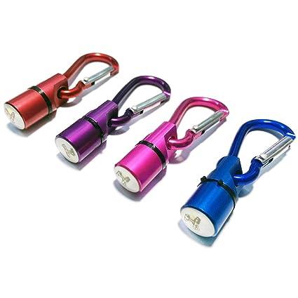 COM de Four® Juego de 4 LED parpadeante colgante para sus mascotas Seguridad lámpara de