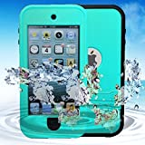 Redpepper Full-Body Rugged Waterproof Shockproof Dustproof Sweatproof Case Cover With Kickstand for Apple iPod 5 waterproof for iPod Touch 5 grass blue