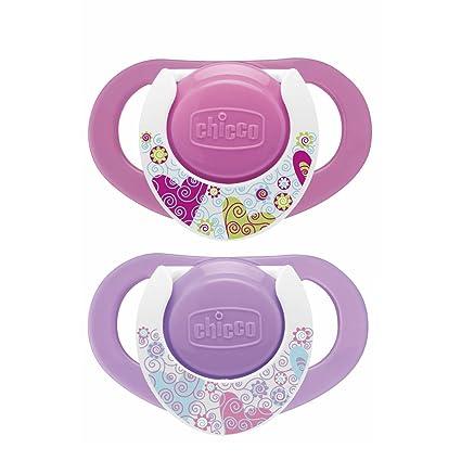 Chicco Physio - Chupete de silicona, 12 meses en adelante, 2 unidades, color rosa