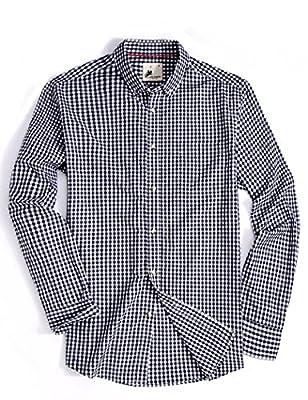 Men's Plaid Shirt Long Sleeve Casual Button Down Collar Shirts for Men Regular Fit