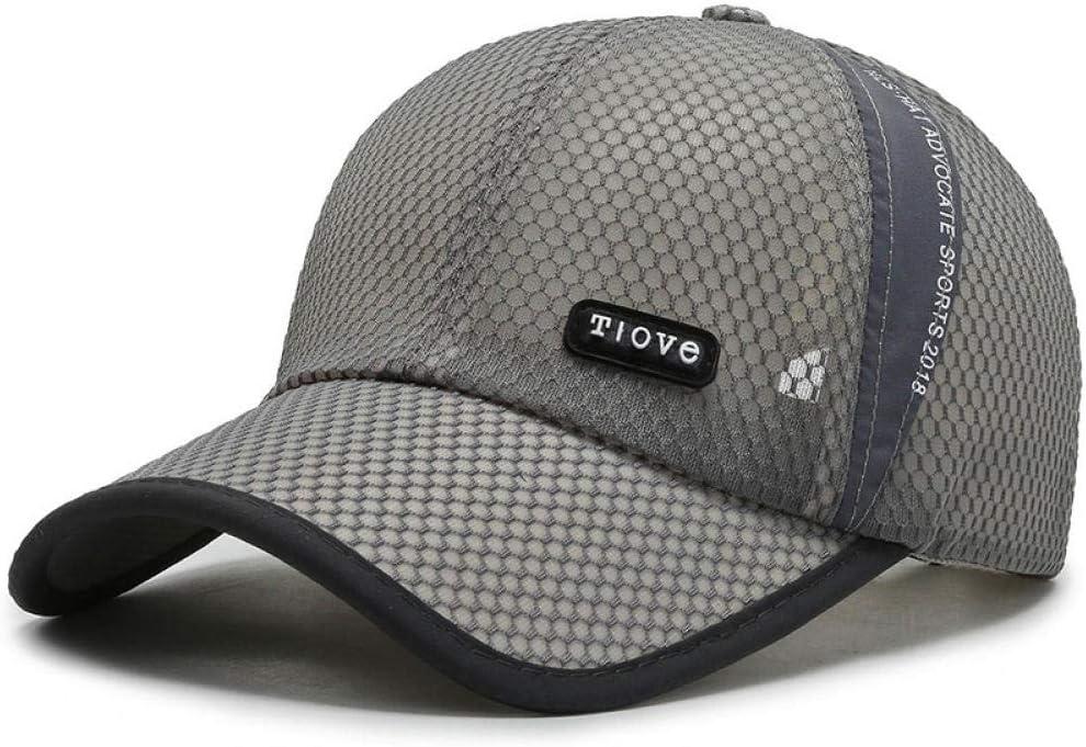 WDTMZN Cappy Caps Sport Kappe Atmungsaktives Netz Blockieren Sie die Sonne M/änner und Frauen Curled Dome Sommer Hutumfang 55-60CM Mode Freizeit Outdoor Outdoor