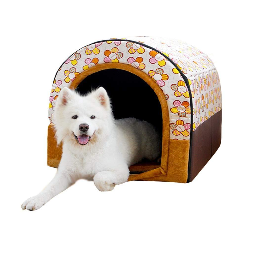 D X-Large D X-Large Pet Bed pet Bed Warm Pet Kennel Puppy House Medium-Sized Dog Pet Indoor House Washable (color   D, Size   X-Large)
