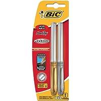 Pincel marcador permanente 1, 1mm 2 cores metalicas 903936 Bic, BIC, 903936, Metálica, pacote de 2