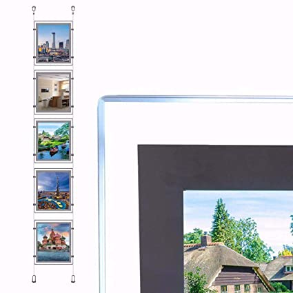 Amazon.com : A4 Portrait Crystal Photo Frame Real Estate ...
