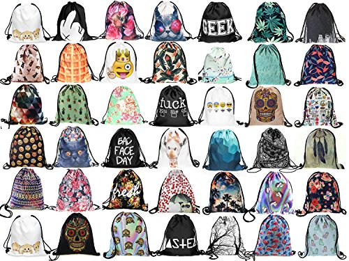 Gym Fullprint Emoji Sports Backpack Wifi Bags Cinch School White Hipster Swimming Trees Bag 6ERHqE1w