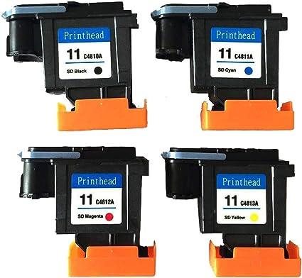 Teng® - Cabezal de impresión reacondicionado HP 11 C4810A C4811A ...