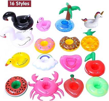 Amazon.com: Posavasos hinchable para bebidas, juguetes de ...