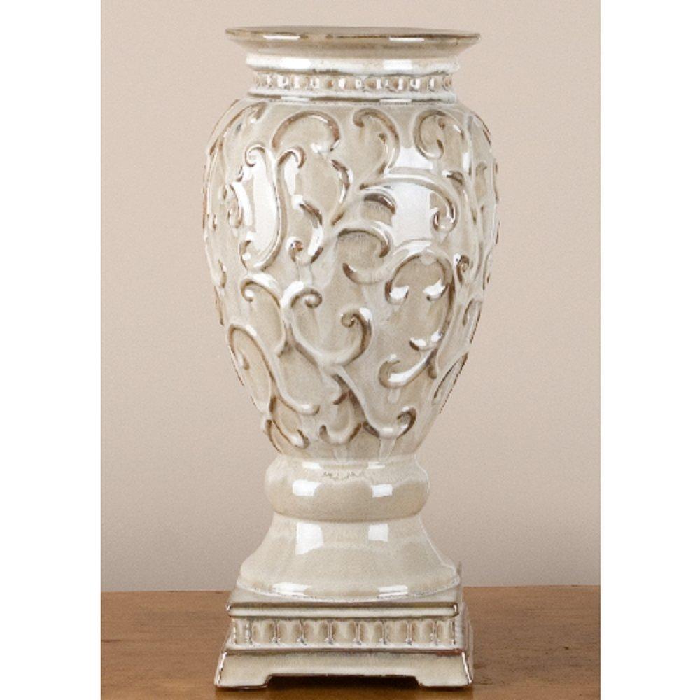 Home decor. Ivory Vase. Dimension: 7.45 x 7.45 x 15.5. Pattern: Sandy.
