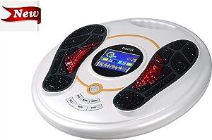 EMS Foot Massager- EMS & TENS Muscle Stimulator, Foot Circulator, Improves Circulation, Relax Stiffness Muscles, Relieve Feet and Legs Pain