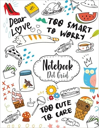 Notebook Dot Grid Cute Cartoon Drawing Cover Dot Grid