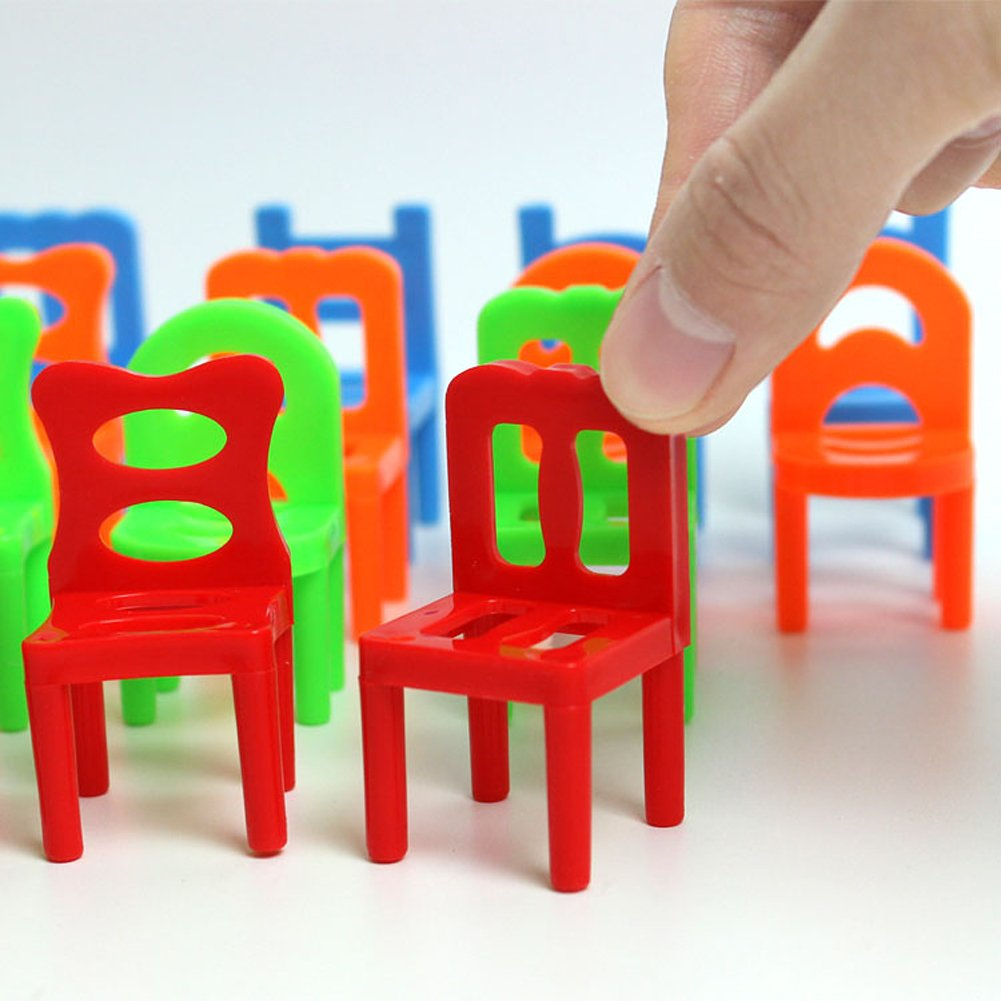 Amazon.com: Vktech® 18X Plastic Balance Toy Stacking Chairs For Kids Desk  Play Game Toys: Toys U0026 Games
