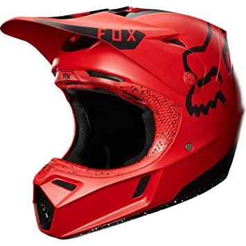 Fox Racing mariposa nocturna de llew mejia Le adultos V3 Motocross Motocicleta Casco – Rojo/