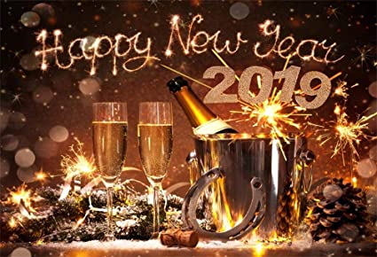 laeacco 7x5ft vinyl backdrop new years eve celebration photography background 2019 happy new year champagne bottles