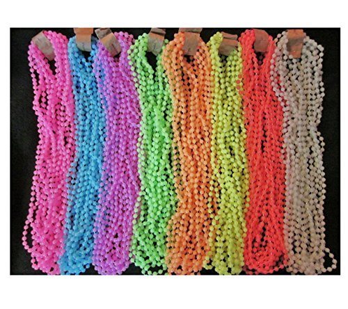 3 DOZEN (36 strands) GLOW-in-the-DARK MARDI GRAS PARTY BIRTHDAY NECKLACES BEADS