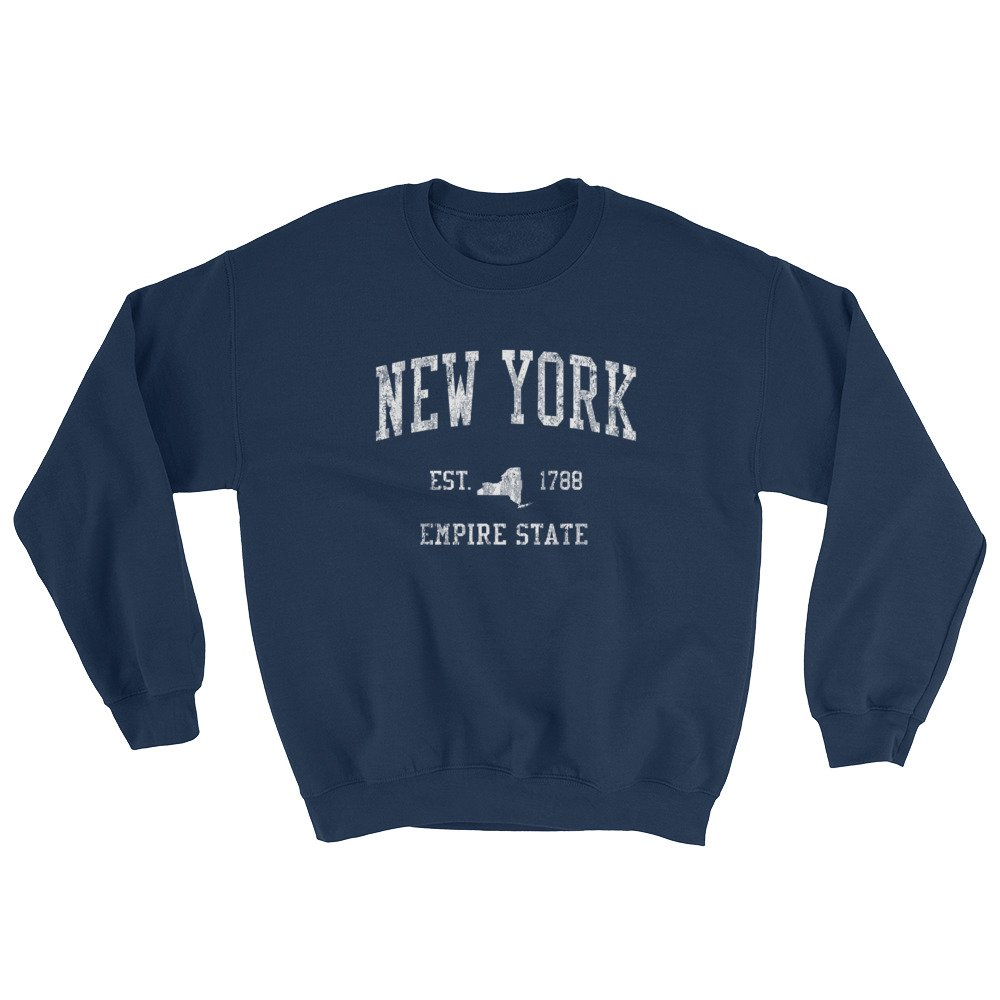 New York NY Sweatshirt Vintage Sports Gift Ideas Empire State Design - Navy