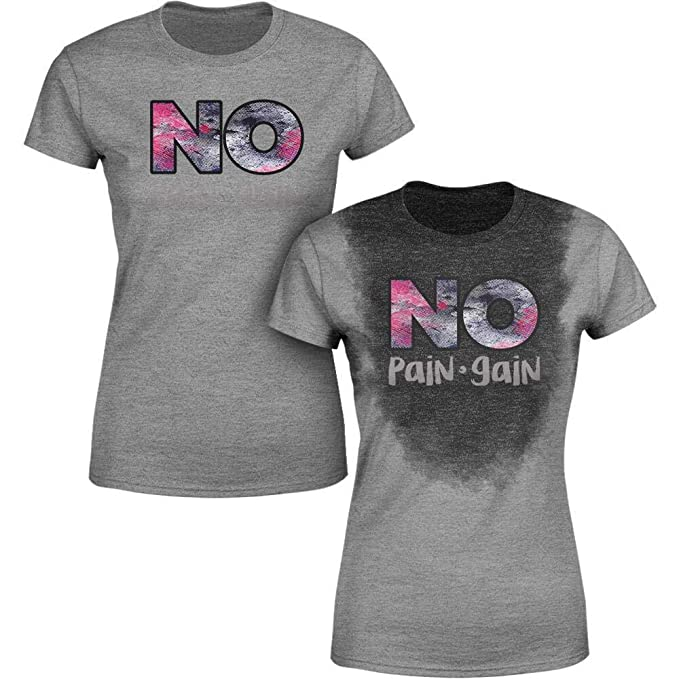 9827de91e Amazon.com: Sweat Activated Women Shirt | Fitness Weight Loss Top | No Pain  No Gain: Clothing