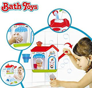 WISHTIME Combine Track Pathway Bath Toy 2019 DIY Free combination of track Bathtub Water Toys for Baby (No Batteries Required and Color in Random)
