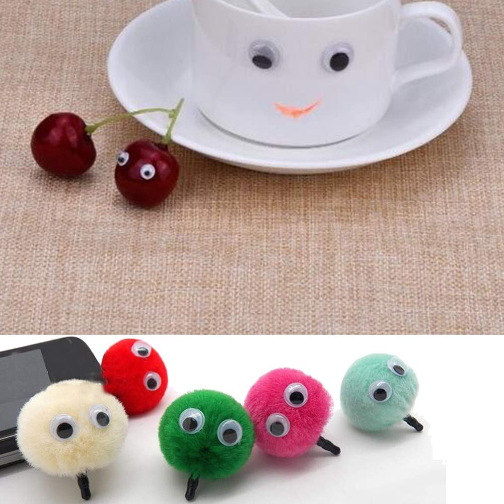 1500pcs 7mm Small Wiggle Googly Eyes with Self-Adhesive for Scrapbooking DIY Crafts Decorations Toy Accessories