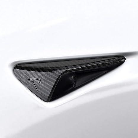 BASENOR Tesla Model 3 Turn Signal Indicator Cover Autopilot 2 ABS Plastic  Carbon Fiber Cap