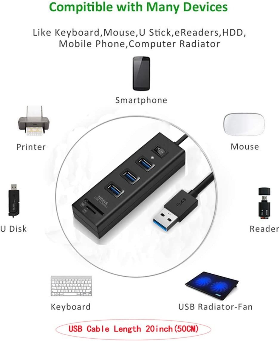 SanFlash PRO USB 3.0 Card Reader Works for Zen Mobile ultrafone 303 Power Adapter to Directly Read at 5Gbps Your MicroSDHC MicroSDXC Cards