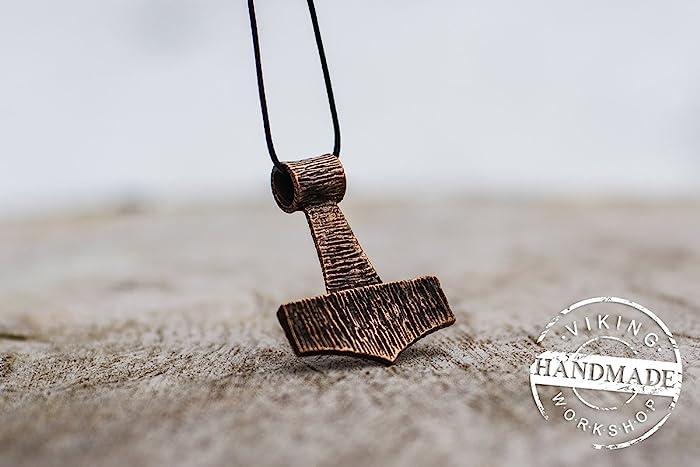 Amazon thors hammer bronze mjolnir pendant amulet scandinavian thors hammer bronze mjolnir pendant amulet scandinavian jewelry wooden style aloadofball Images