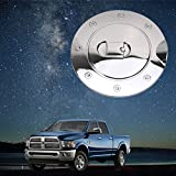 Fuel Tank Gas Door Cap Cover with Triple Chrome Plated ABS for Dodge Ram 1500/2500/3500 2009-2017