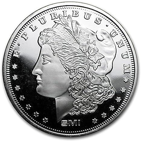 アメリカ・1878年・モルガン・レプリカ・1オンス・メダリオン 31.1g ... - Amazon